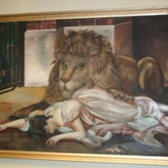 Original Oil Painting Back at the Park Theatre